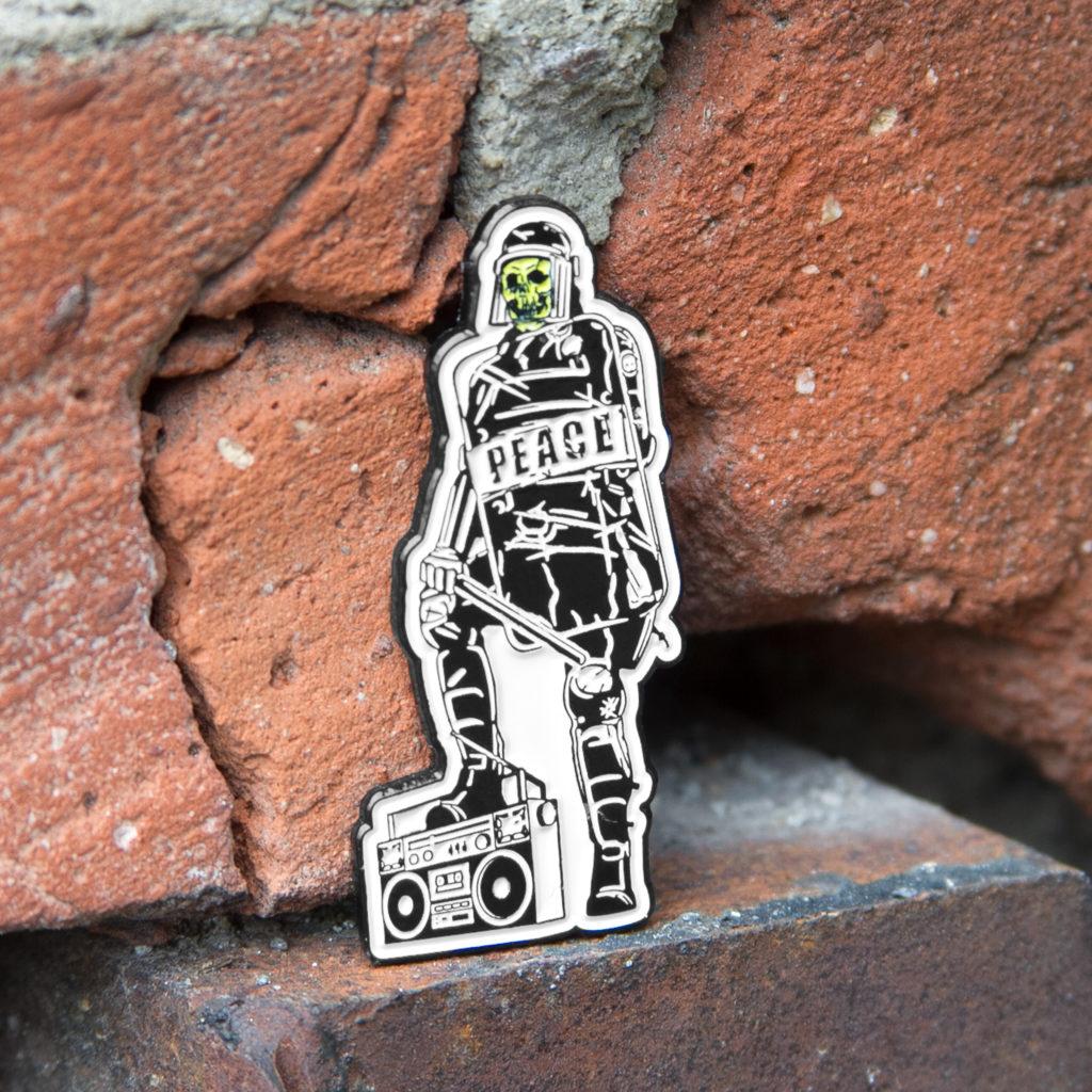 riot cop pin